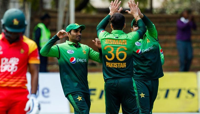 Zaman sets records as Pakistan sweep Zimbabwe
