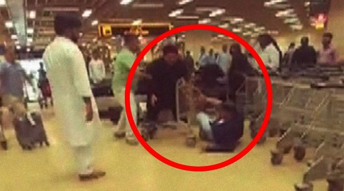 PPPP's Gabol, passenger embroiled in brawl at Karachi airport caught on video