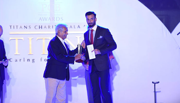 Shan Masood bagged the Best Batsman in Domestic Cricket. Photo: PCB