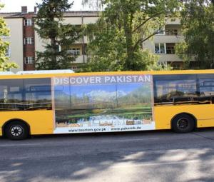Buses showcasing Pakistan's beauty hit roads of Berlin on Independence Day