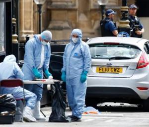 Car hits pedestrians at UK parliament in suspected terrorist attack