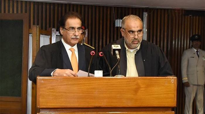 PTI's Asad Qaiser sworn in as NA speaker amid PML-N ruckus