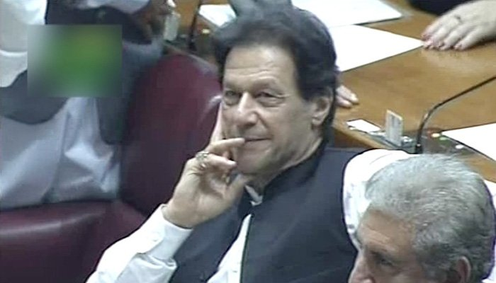 Imran Khan after being elected the prime minister of Pakistan - Photo: Screengrab
