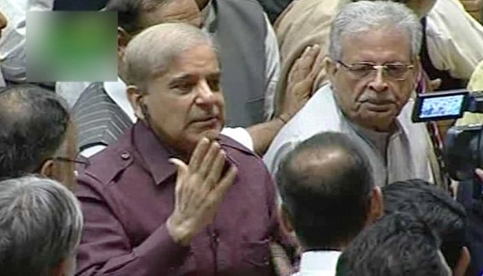 PML-N President Shehbaz Sharif addresses National Assembly