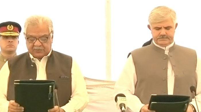 Mehmood Khan sworn in as KP chief minister