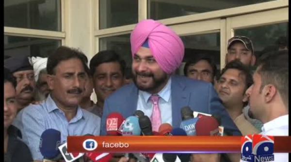 Navjot Singh Sidhu arrives in Pakistan for Imran's oath-taking ceremony