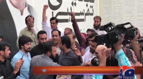 PTI workers celebrate Imran Khan's election as PrimeMinister