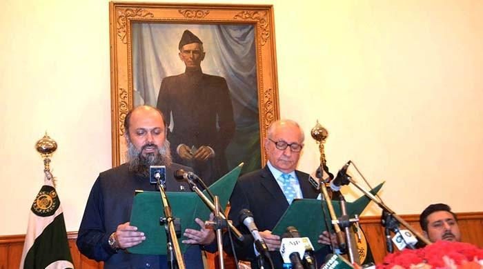 Jam Kamal sworn in as Balochistan chief minister