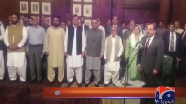 Usman Buzdar takes oath as Punjab chief minister