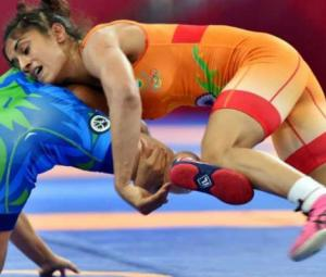 Life imitates art as Indian wins women's wrestling gold