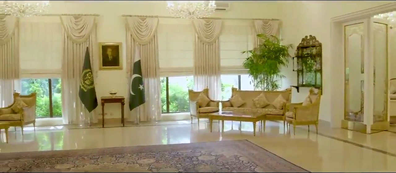 Photo released by the PTI government of the 1100 canal luxurious Prime Minister House in Islamabad.