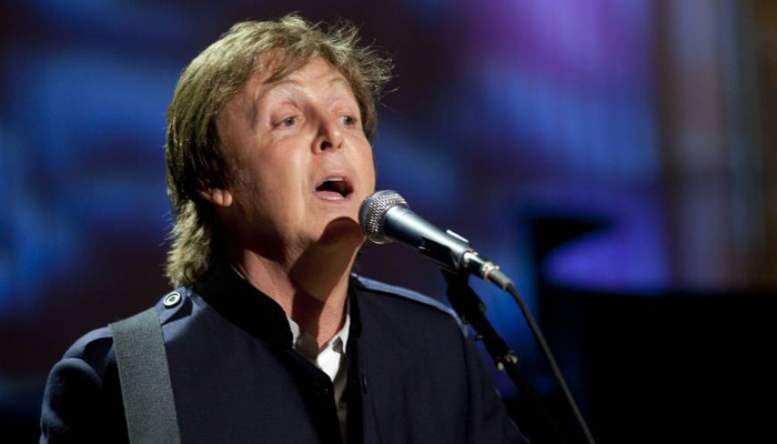 Paul McCartney surprises visitors riding in a NY lift
