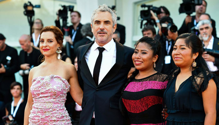 170245f9418 Mexican-born director Alfonso Cuaron says that seeing the world through  women s eyes for his film  Roma  marked him. Photo  AFP
