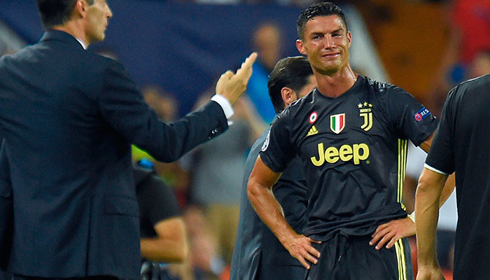 Ronaldo sent off; will miss United return