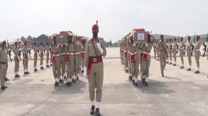 Funeral prayers of martyred soldiers held in Rawalpindi