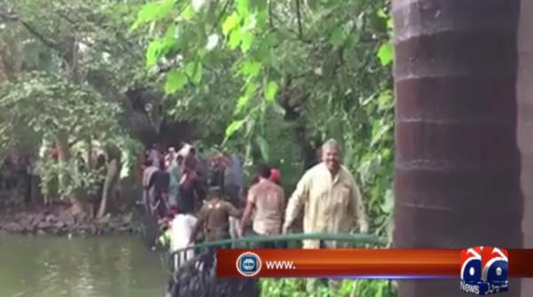 Wooden bridge inside Governor House collapses in Lahore