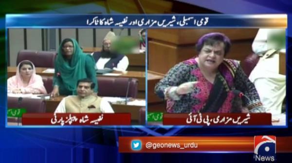 PPP's Nafeesa Shah, Mazari argue over immigrants' citizenship, Karachi situation