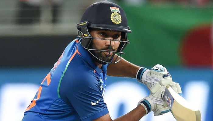 Skipper Rohit Sharma played a 48 runs innings. Photo: AFP