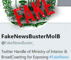 Government's fake news account challenged by imposter Twitter handle