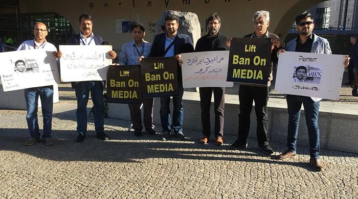 Pakistani journalists express solidarity with PFUJ in Brussels