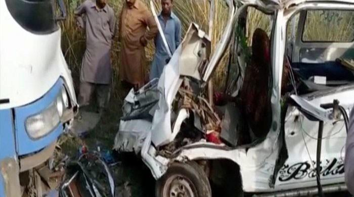 Six students killed as van collides with bus in Sargodha