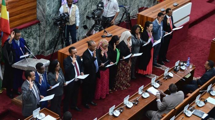 Ethiopian PM hands half of cabinet to women