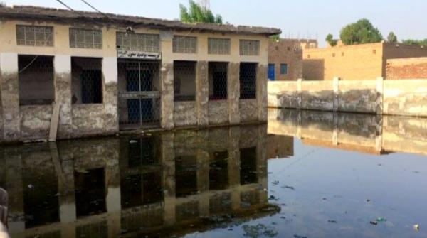 Stagnant water in Sukkur school threatens lives of students