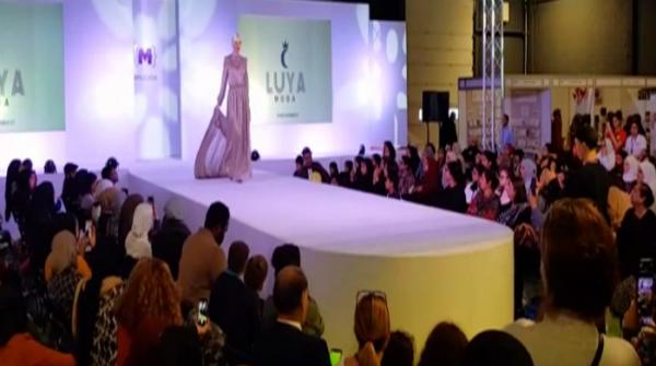Model walk runway in Manchester wearing Pakistani clothes