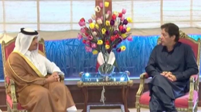 PM Khan, Qatari foreign minister discuss bilateral trade, investment