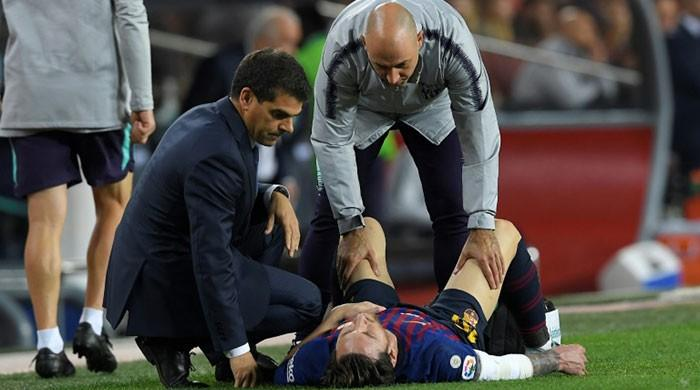 Barca victory tarnished as injured Messi set to miss three weeks