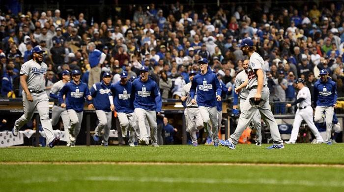 Dodgers down Brewers to reach World Series against Boston