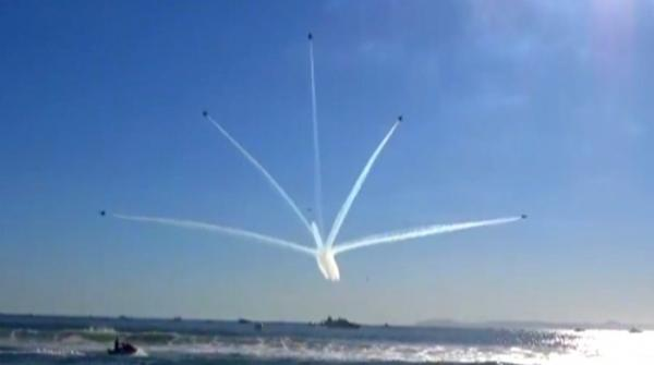 Aerobatics perform at the Great Pacific Air Show in California