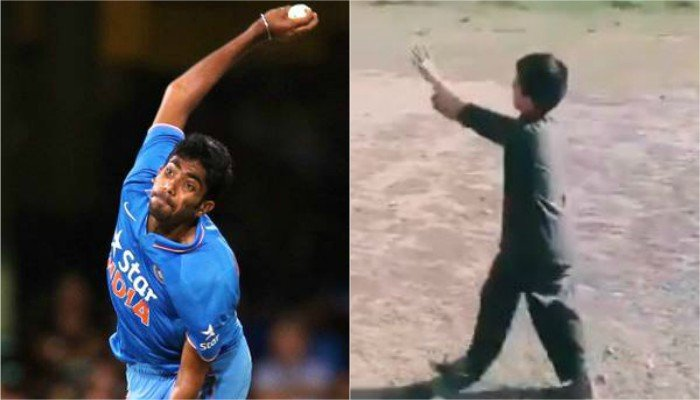 Five-year-old Pakistan fan tries to imitate Jasprit Bumrah's actions