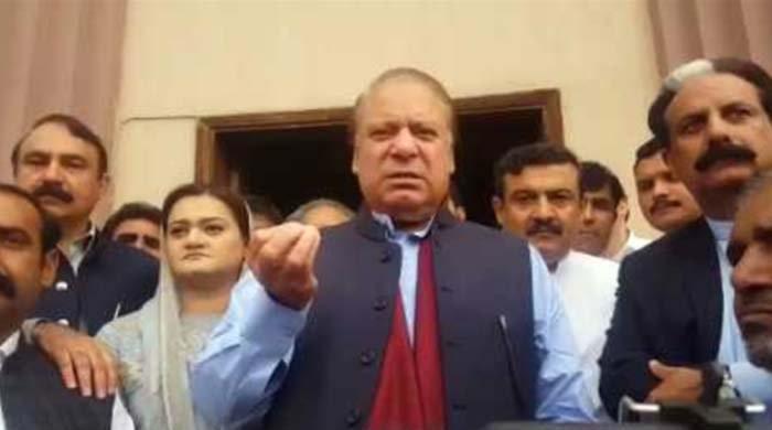 Nawaz avoids journalists' questions, asks Marriyum Aurangzeb to reply