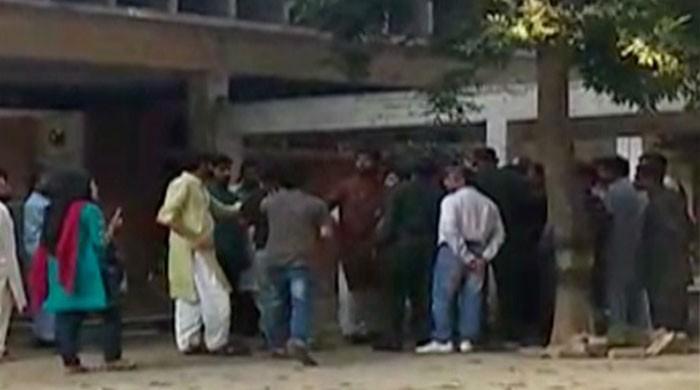 Islami Jamiat Talaba members thrash student's husband on Punjab University campus