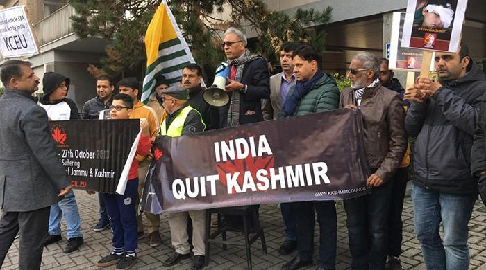 Kashmiri community in Brussels calls for end to Indian occupation