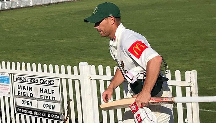 Warner leaves field mid-innings after sledge in Sydney grade cricket match