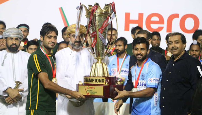 India and Pakistan were declared the joint winners of the biennial extravaganza after heavy showers rendered the pitch unplayable