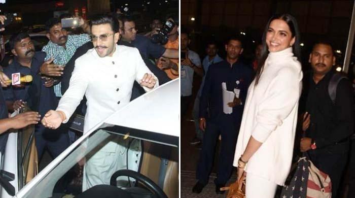 Deepika Padukone, Ranveer Singh leave for their destination wedding