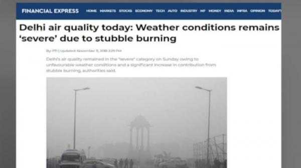 Smog in Delhi makes breathing difficult for residents