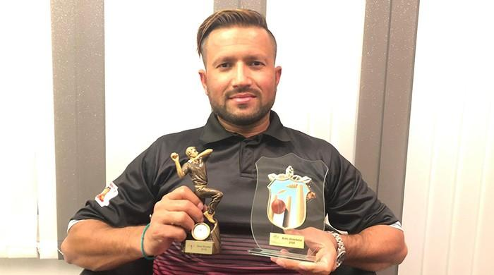 "Pakistani cricketer in Norway receives ""Best Player of the Year Award"""