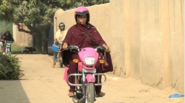 Lady health workers using motorbikes to get the job done in Multan