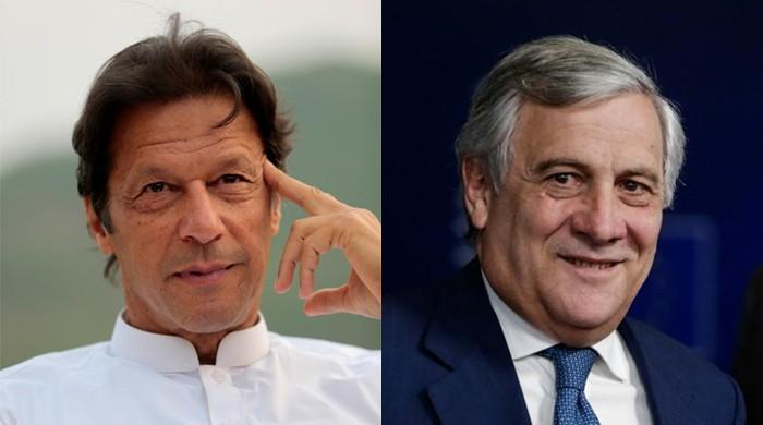 PM Khan tells EP President Tajani of Pakistan's reservations over blasphemous caricatures