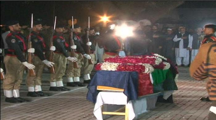 SP Tahir Khan Dawar laid to rest in Peshawar