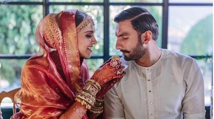 Deepika, Ranveer share new pictures from their wedding
