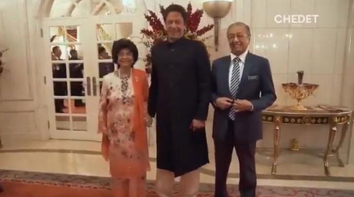 'Can I hold your hand?' Malaysian first lady asks PM Imran