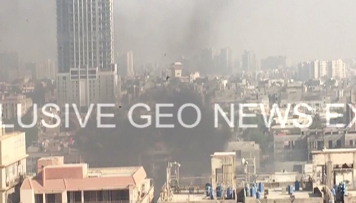Two policemen were martyred and one other injured in an attack outside the Chinese consulate in Karachi's Clifton Block 4. - Geo News
