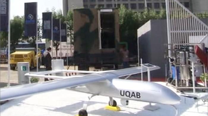 Pakistan unveils 'Shahpar' drone at IDEAS 2018