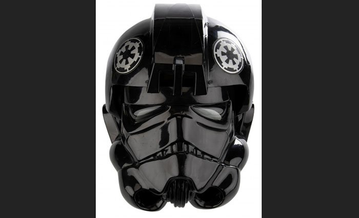 "An original TIE Fighter Helmet from 'Star Wars: A New Hope"" is among items on the auction block. Photo: Reuters"