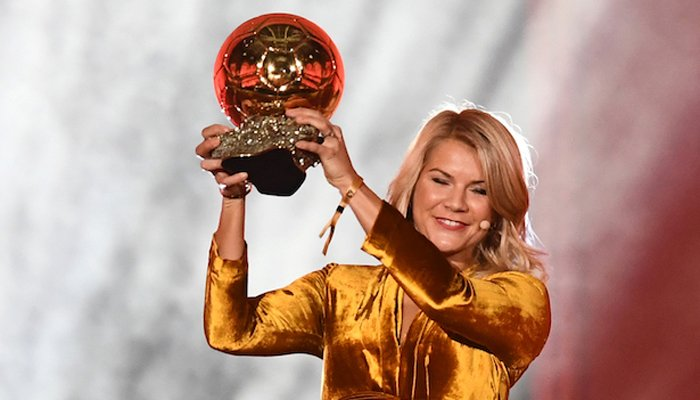 Inaugural women´s Ballon D´Or winner Ada Hegerberg